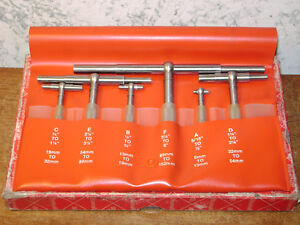 6 Pc Starrett Telescope Gage Set No S579h