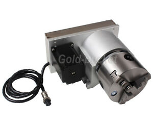 4th Axis Rotary Table A Axis Cnc Router 100mm Chuck Ratio 1 8 Engraving Machine