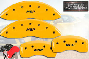 2003 2005 Land Range Rover Hse Front Rear Yellow Mgp Brake Disc Caliper Covers