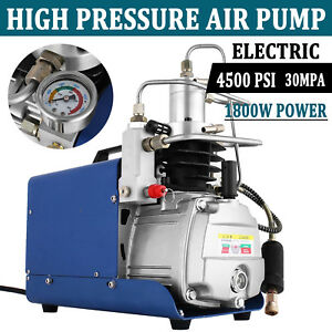 High Pressure Air Pump Electric 110v 300bar Air Compressor 4500psi Rifle 30mpa