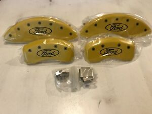 Mgp Disc Brake Caliper Covers 2015 18 Ford Edge Ford Oval Logo In Yellow