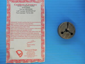 New Certified M8 X 1 6g Thread Ring Gage 1 0 8 00 No Go Only P d 7 212 Mm