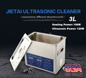 3l Ultrasonic Cleaner Stainless Steel Industry Digital Heated Heater W timer Us