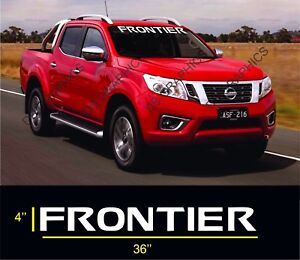 Frontier Front Windshield 36 Banner Decal Sticker Fits All Nissan Frontier