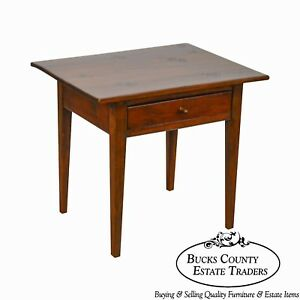 Stephen Von Hohen Bucks County Furniture Solid Pine Square Side Table W Drawer