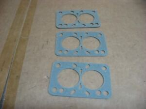 58 61 Chevy 348 C I D Tripower Carb Base Gasket Set 3 Gaskets