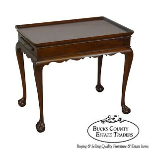 Statton Old Towne Cherry Ball Claw Foot Tea Table
