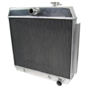 3 Row Aluminum Radiator For 1955 1956 1957 Chevy Bel Air W Cooler V8
