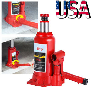 Portable 8 Ton Heavy Duty Hydraulic Bottle Jack Auto Truck Caravan Tractors Lift
