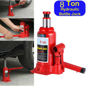 8 Ton Hydraulic Bottle Jack Low Profile Automotive Shop Car Lift Repair Tools Us
