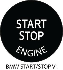 Bmw Stop Start Engine Button Decal Repair 1 Stop Start Decal