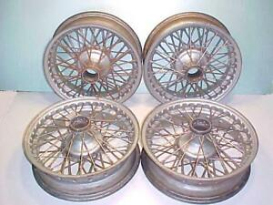 Aston Martin Wire Wheels_ Db4_db5_db6_oem_set Of 4 Wheels