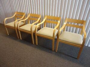 Bernhardt Design Guest Dining Arm Chairs High end Quality Set Of Four Chairs