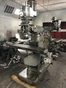 9 X 42 Bridgeport Milling Machine With Power Feed And Chrome Ways