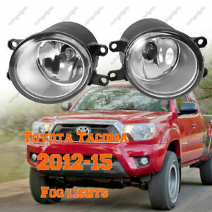 Front Driving Fog Lights Lamp Clear Lens W Wiring For Toyota Tacoma 2012 2015