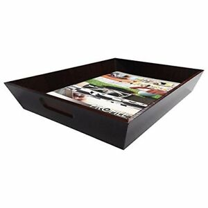 Stockton Wood Letter Size Paper Tray Organizer For Office Desk Drawer Organizers