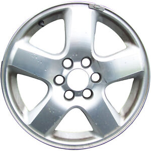 05278 Used 17x6 5 Alloy Wheel Rim Sparkle Silver Painted With Machined Face
