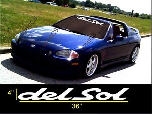Honda Del Sol Windshield Banner Decal Sticker