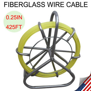 Fish Tape Fiberglass Wire Cable Running Rod Duct Rodder Fishtape Puller Us Stock