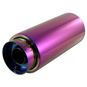 Dc Sports Ex 5022 Chameleon Anodized Round Muffler W Tip 4 Outlet W 2 25 In