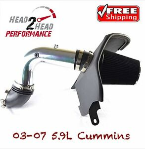 03 07 Cummins 5 9 Custom 4 Cold Air Intake Turbo Whistle