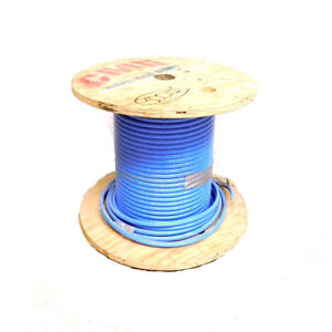 300 Ft Cme Wire And Cable E102470s Blue 3 0 Awg Electrical Copper Wire Spool
