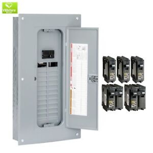Indoor Main Breaker 48 circuit 100 Amp 24 space Plug on Single Phase Load Box