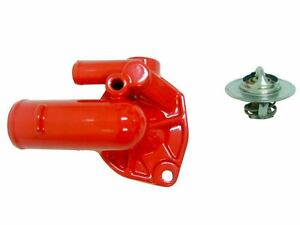 Jeep High Flow Thermostat Housing Red Powder Coat With 195 Degree Thermostat