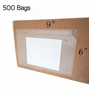 500 Clear Envelope Pouches 6x9 Slip Plastic Self Adhesive Shipping Label Packing