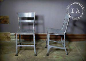 Vintage Industrial Toledo Art Steel Machinist Stool