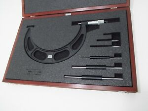 Starrett 224 1brlz Outside Micrometer Set 6 In 9 In 001 Grad 224brlz 72700