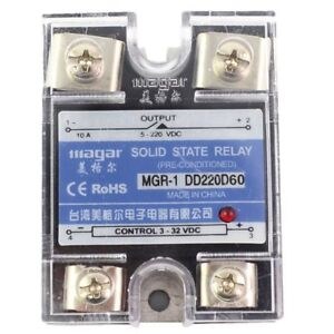 Ssr 60a Dd Dc dc Solid State Relay Input 3 32vdc Output 5 220vdc Control