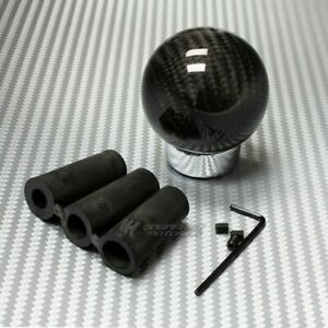 100 Real Carbon Fiber Ball Manual Mt Gear Stick Shifter Shift Knob Universal 5