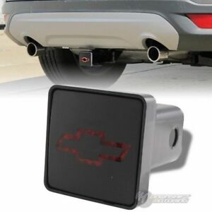Bully Hitch Cover 2 Rear Trailer Towing Receiver W Brake Lights For Chevy Logo