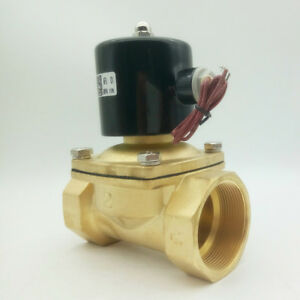 G1 1 2 Brass Electric Solenoid Valve Ac220v For Water Air Gas Normally Closed