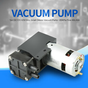 40l min Dc 12v 42w Mini Small Oilless Vacuum Pump 85kpa Vacuum Degree Durable
