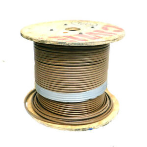 600 Ft Cme Wire Cable Brown 1awg Electrical Copper Wire Nylon Insulated