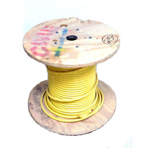 215 Ft Cme Wire Cable E102470s Yellow Copper Wire Spool 3 0 Awg 600v Rating