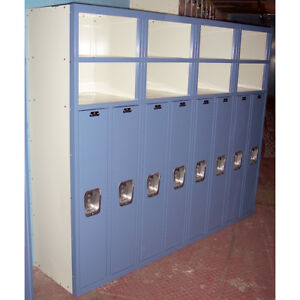 List Industries Superior 8 Door Lockers Metal Kids School Gym Work Storage Shelf