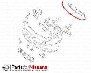 Genuine Nissan 2009 2014 Maxima Front Bumper Hood Rubber Strip Seal New Oem