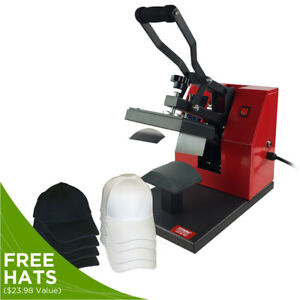Digital Cap Heat Press Machine W 8 Free Baseball Hats Hat Press Heat Transfer