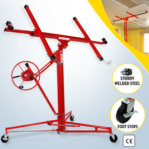 11 Drywall Lifter Panel Hoist Jack Rolling Caster Construction Lockable Red