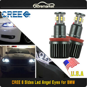 120w 7000k White Bmw H8 Cree Led Angel Eyes Ring Marker Bulbs For 1 3 5 X Series