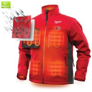 Heated Jacket Kit Men s Large M12 12 volt Lithium ion Cordless Red Work Gear New