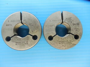 1 20 Ns Thread Ring Gages Go No Go P d s 9656 9616 Inspection Tooling