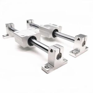 10mm Linear Rail Shaft Rod Optical Axis Guide Support Bearing Block Up To 500