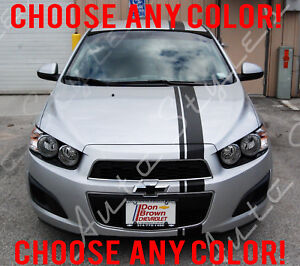 Custom Racing Stripes Vinyl Kit Body Accessory Decal Chevy Sonic 3 Piece Set