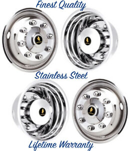 19 5 Ford F650 6 75 8 Lug 2004 Wheel Simulator Rim Liner Hubcap Cover Set