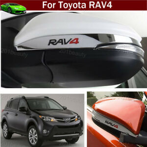 2pcs Abs Chrome Rearview Side Mirror Cover Trim For Toyota Rav4 2013 2017 2018