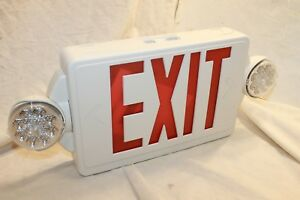 Lithonia Lighting Lhqm Led R M6 2 light Plastic Led White Exit Sign emergency
